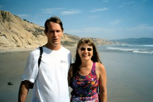 Ben and Sherie, Torrey Pines State Beach June 2000